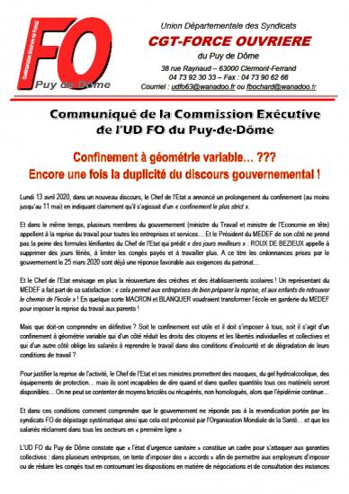 Communique udfo du 14avril2020
