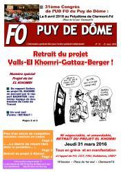 Journal 31 retrait du projet valls el khomri gattaz berger